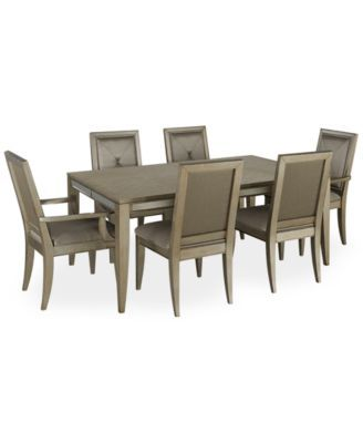 Ailey 7 Piece Dining Room Furniture Set Table 4 Side Chairs And Pleasing 2 Piece Dining Room Set Design Decoration