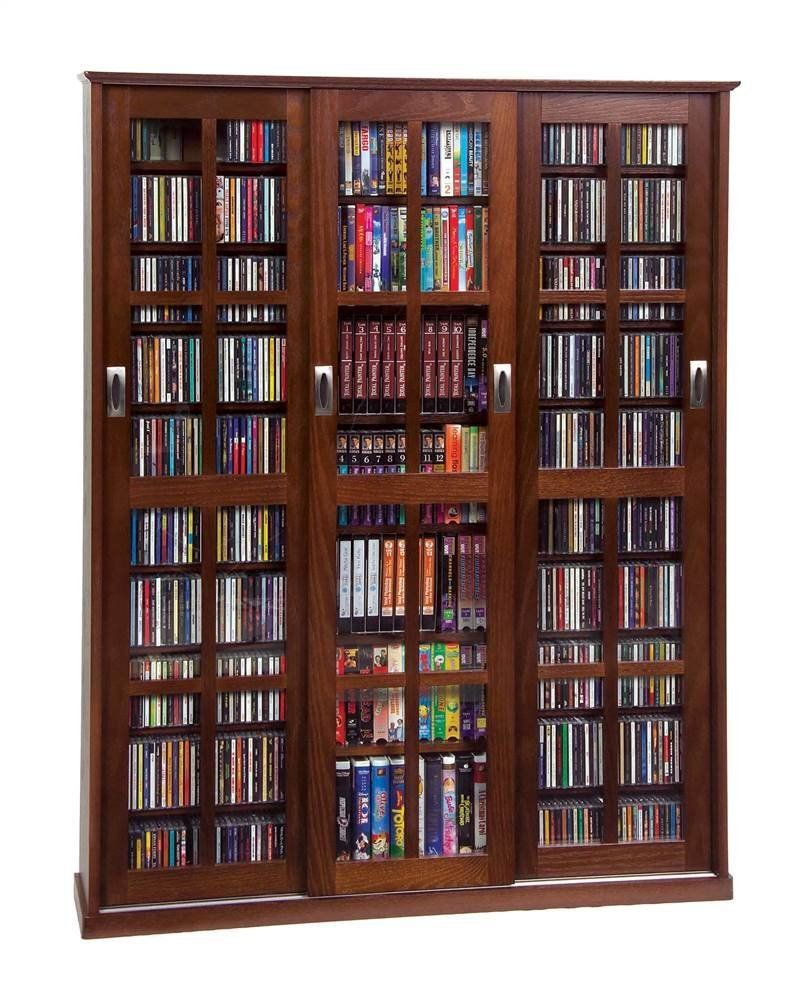 Amazon Multimedia Wall Cabinet W Three Sliding Doors W Glass