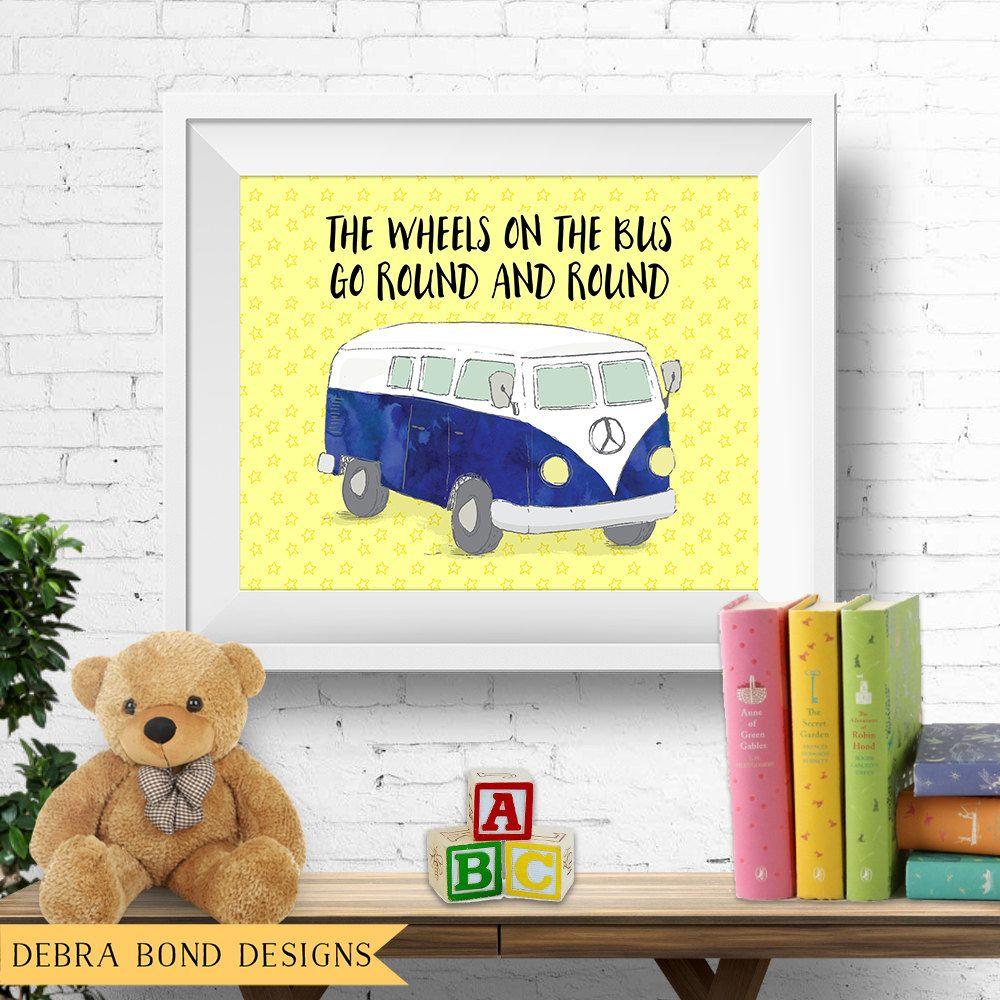 Printable nursery wall art, \