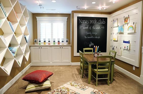 This Was Something I Had More In Mind It Would Be Very Simple To Do We Would Paint The Wall Then Frame It Out Kids Craft Room Kids Study Spaces Kids