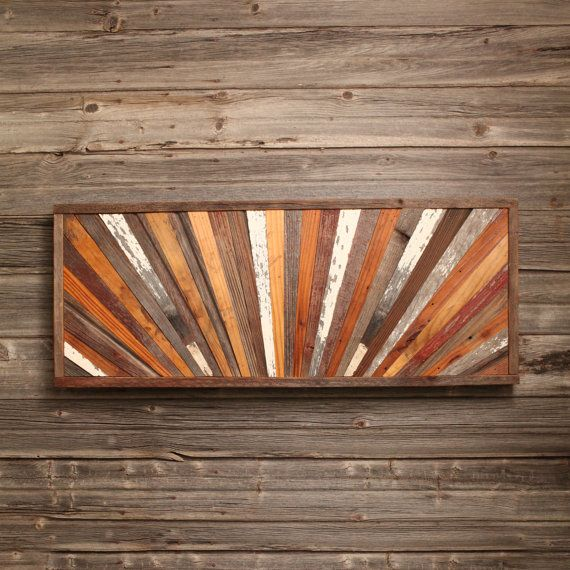 36x15 Sunrise Barn Wood Wall Art Reclaimed Modern Wood Quilt Design Free Shipping In The Usa Barnwood Wall Art Wood Wall Art Barn Wood