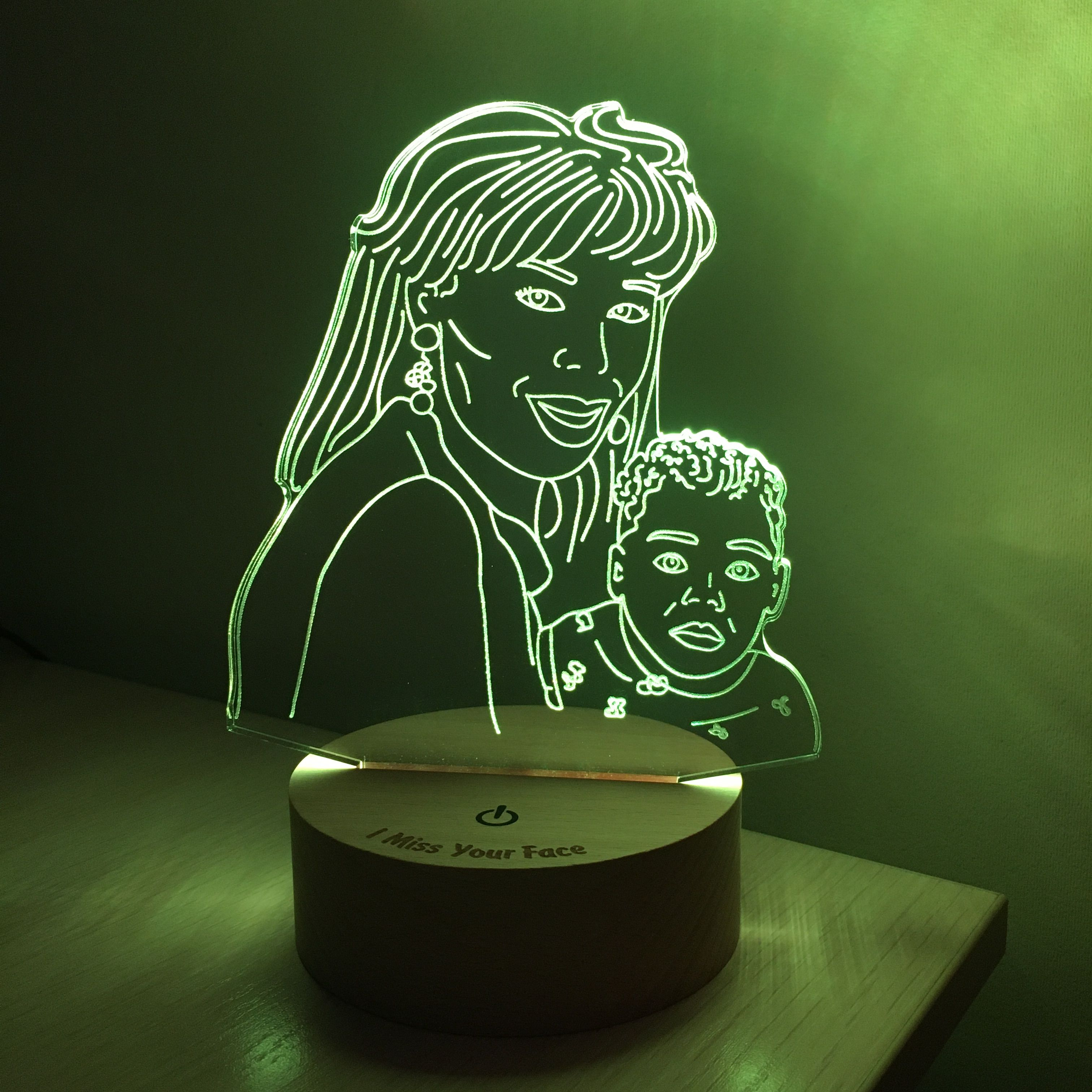 Couple Lamp Drawing From Photo Nightlight Led Dimmable Etsy In 2020 Photo Lamp 3d Led Lamp Night Light