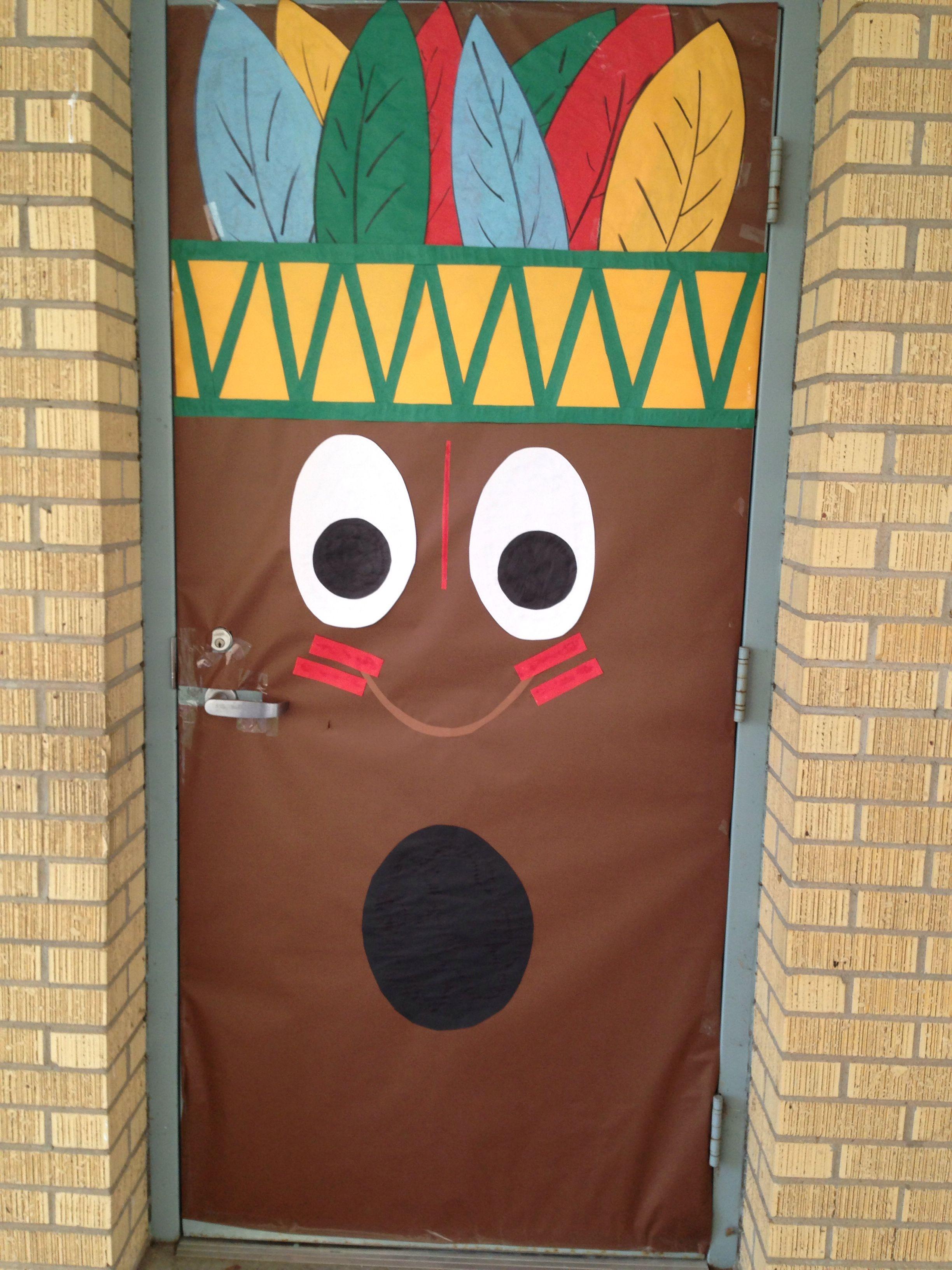 Classroom door decoration Happy Thanksgiving School