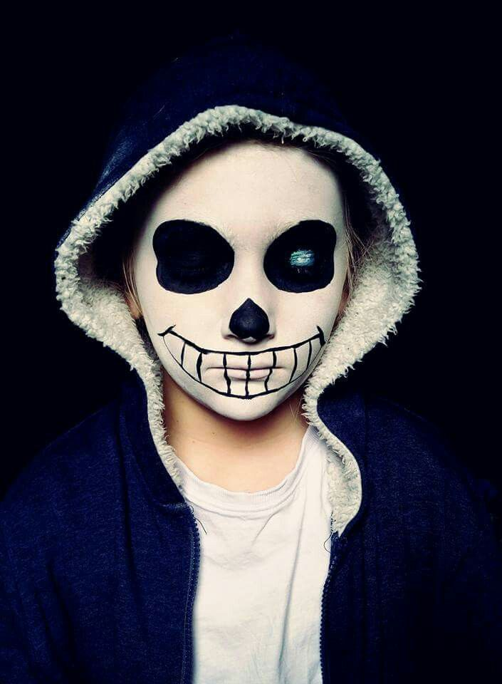 Sans from Undertale makeup sans undertale voluptacon sansfrom undertale