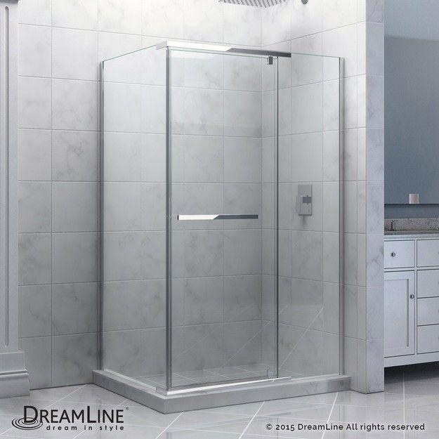 Dreamline Shen 1132460 Quatra 32 5 16 X 46 5 16 Inch Frameless Pivot Shower Enclosure Shower Enclosure Frameless Shower Enclosures Dreamline