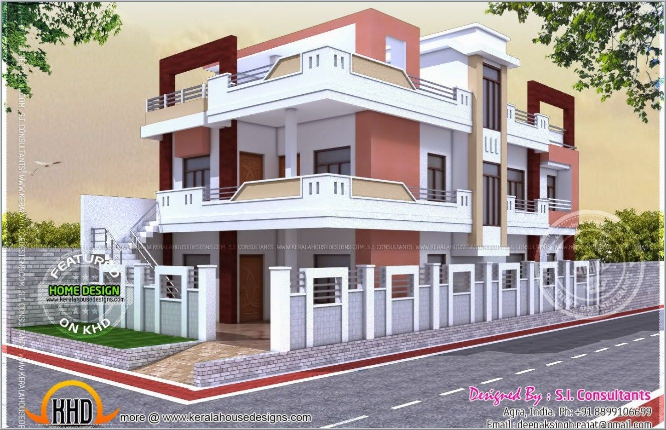 excellent house plan with luxury indian home exterior design