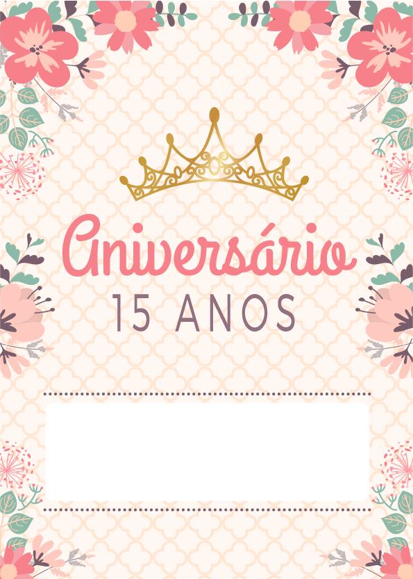 Convite 15 Anos Para Imprimir Convite15anos Festa15anos 15anos