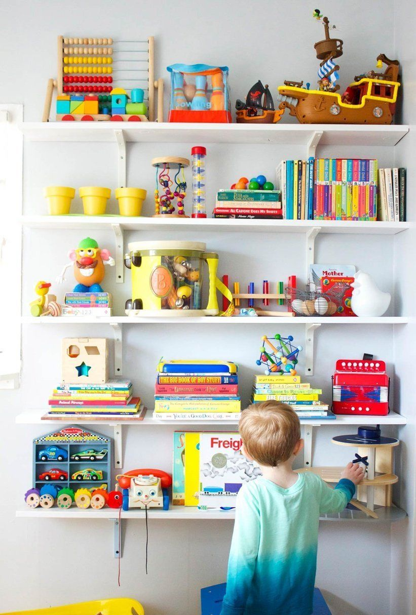 sam lars happy hand me down room lovely little spaces rh pinterest com Playroom Shelving Floor Playroom Shelving Ideas