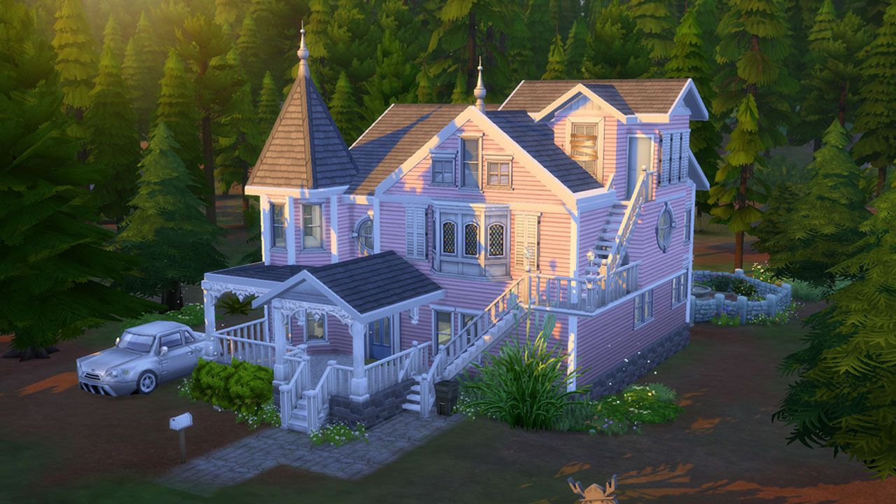 I Don T Like Caviar The Sims 4 Pink Palace Apartments Download Pink Palace Sims House Plans Sims Baby