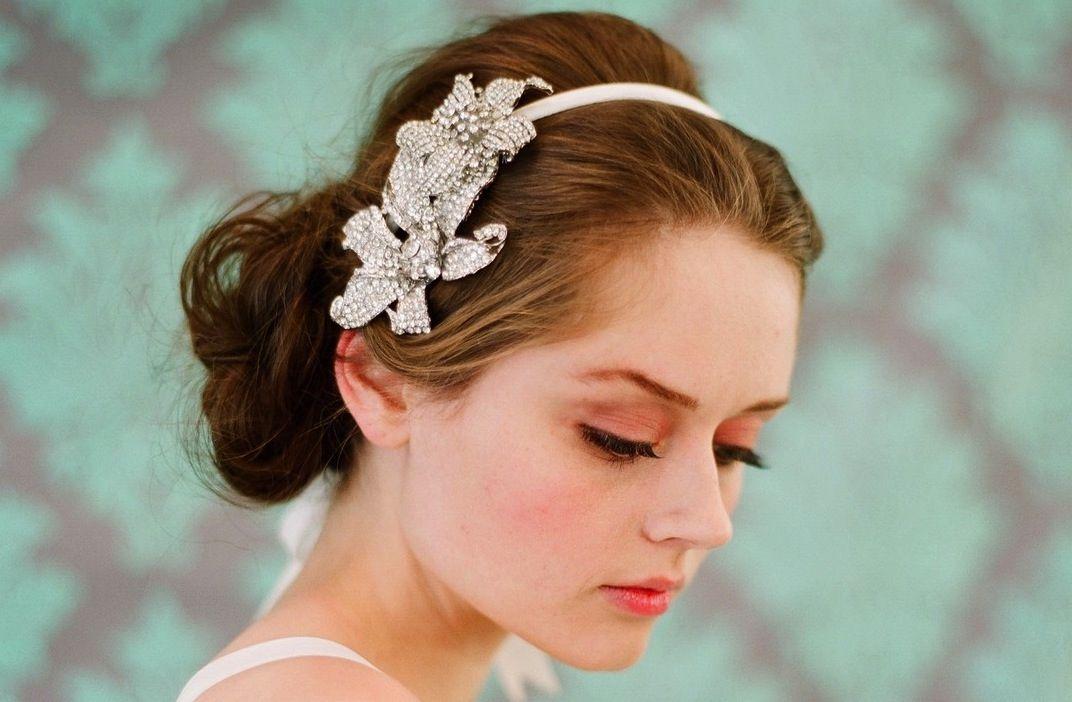 bridal headbands | Flower Bridal Headbands For Half Updo | Bridal Flower Headbands ...