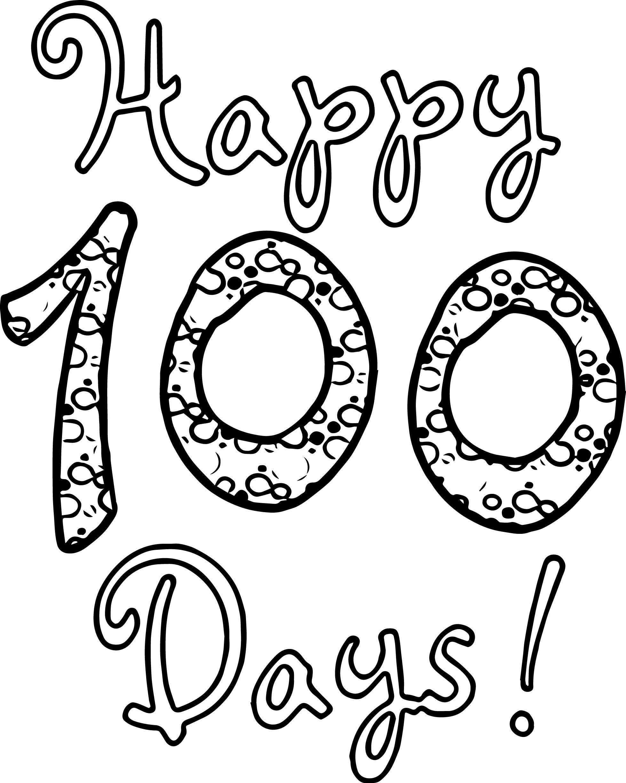 Happy 100 Days Of School Coloring Page School coloring