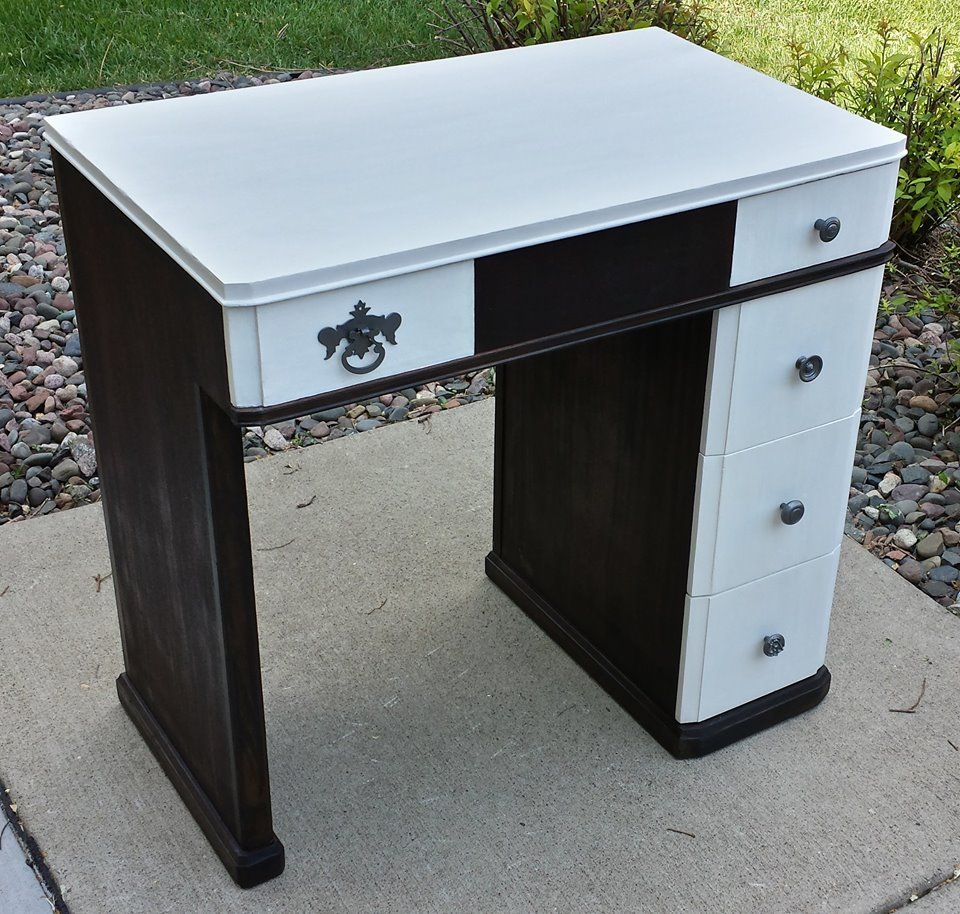 An Old Sewing Table Repurposed As A Desk.