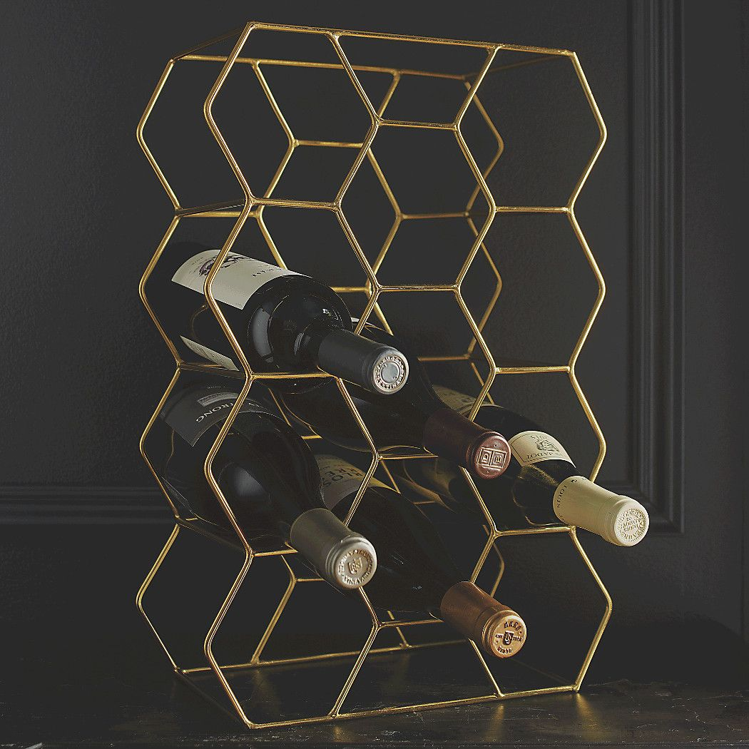 11 Bottle Gold Wine Rack Reviews Crate And Barrel Wine Rack