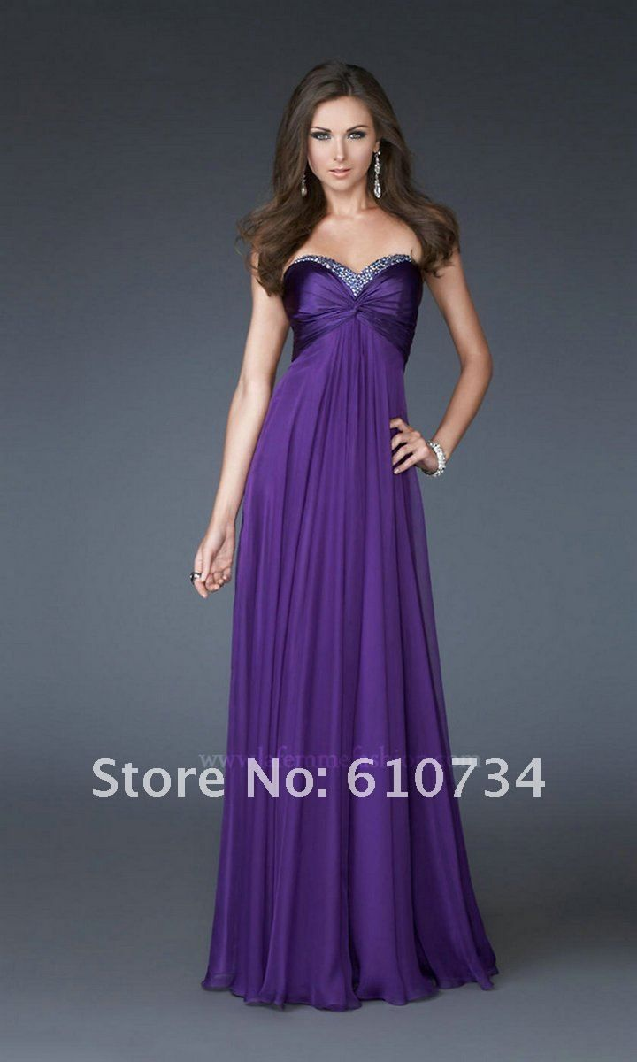 ST004 In Stock Cheap Purple/Green/Royal Blue Chiffon Quickly ...