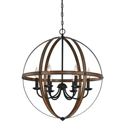 Joon Indoor 6 Light Led Candle Style Chandelier Indoor Chandelier Globe Chandelier Iron Chandeliers