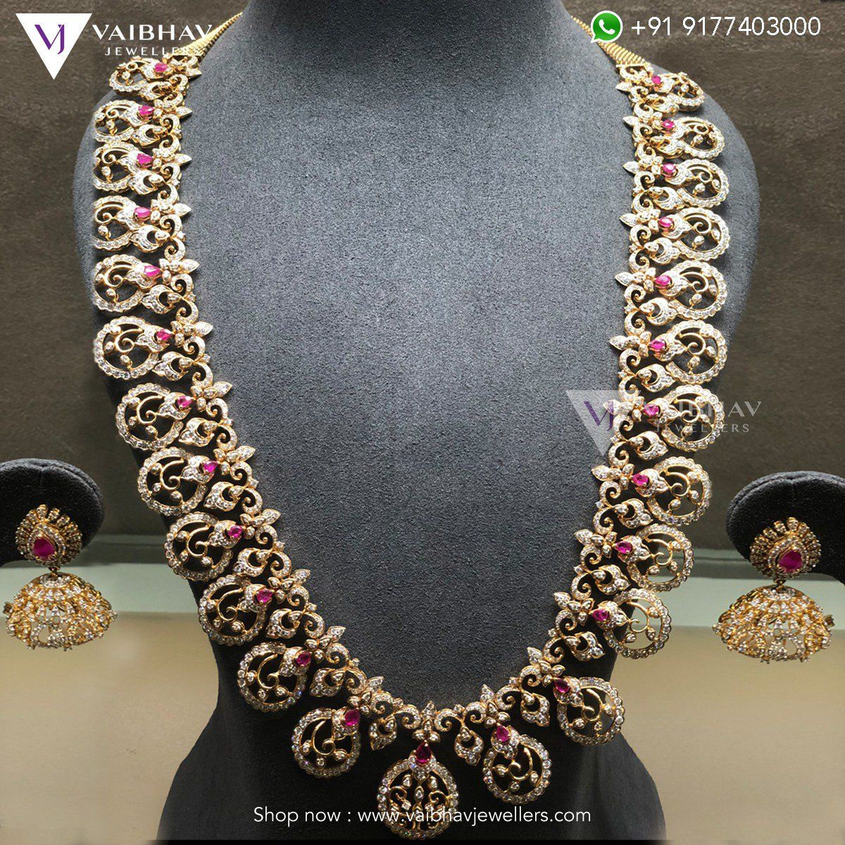 fea0c1a127284 Diamond Haram Collection by Vaibhav Jewellers photo   Jewellery ...
