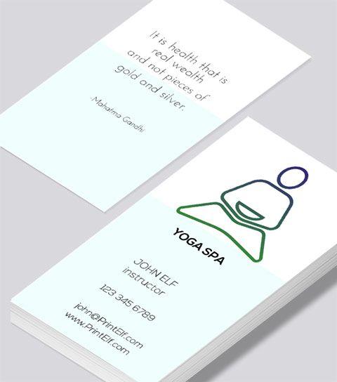 Modern contemporary business card design -Yoga Spa business card ...