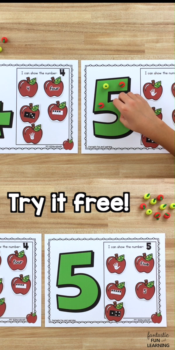 Photo of Apple Counting Mats