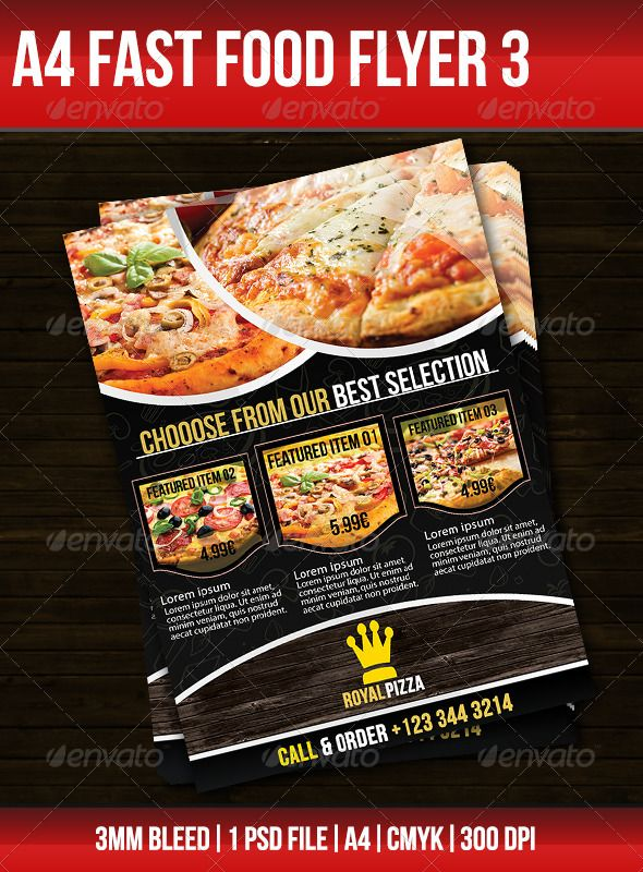 Fast Food Flyer 3 | Chang'e 3, Food and Fast foods