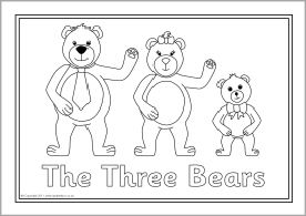 Goldilocks And The Three Bears Colouring Sheets Sb6137 Sparklebox Bear Coloring Pages Goldilocks And The Three Bears Kindergarten Colors
