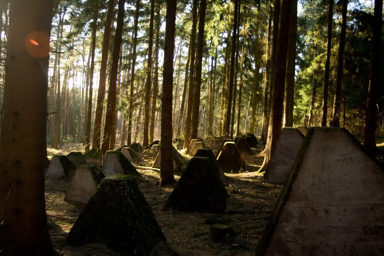 "WWII - Europe:  ""Dragon Teeth"" Siegfried Line - Westwall"