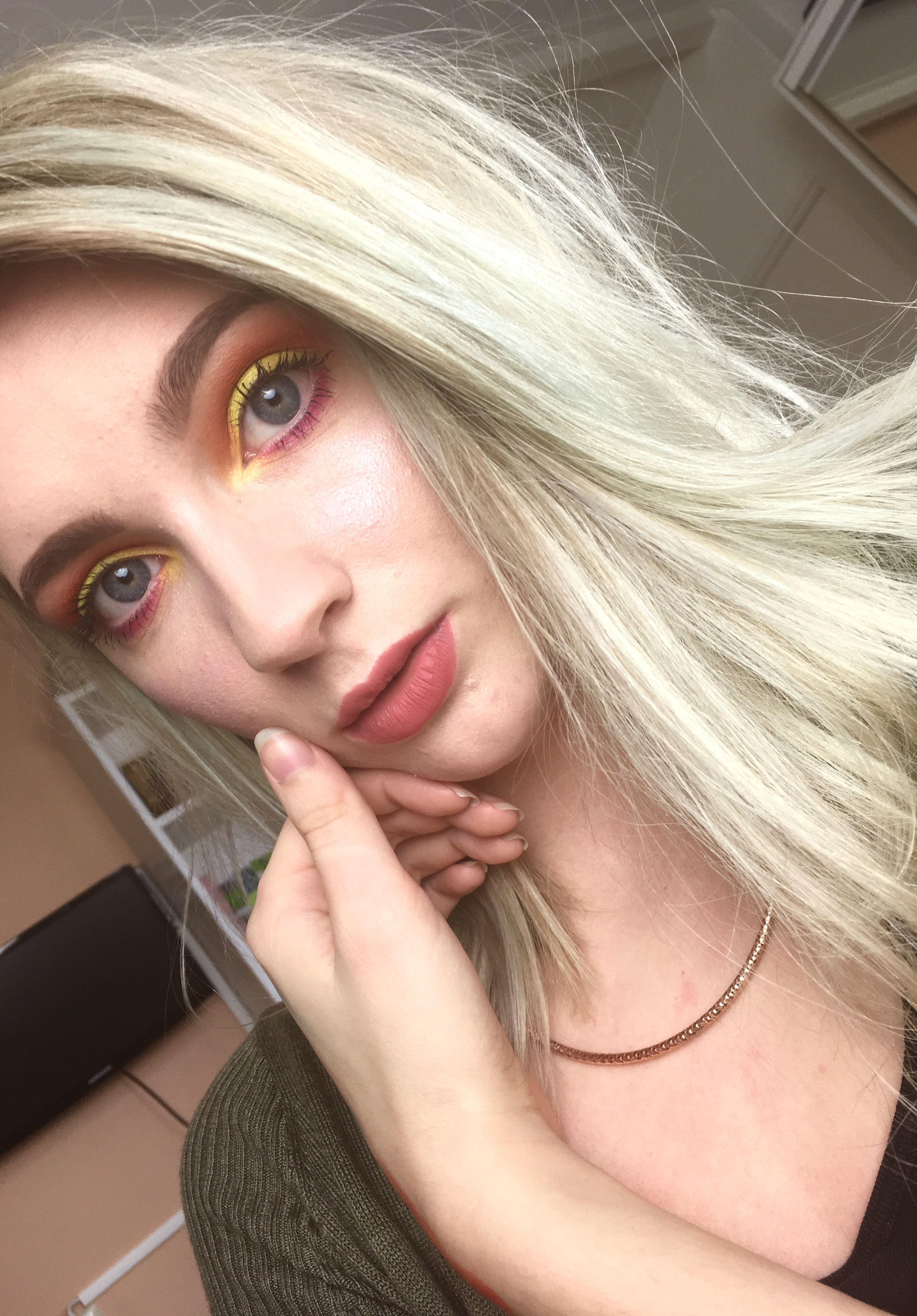 Day 2 - neon  Used BH cosmetics pop art palette to create this neon eye. It's very different than what I normally do but I loved it so much!