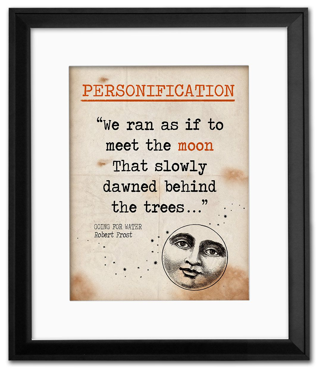 To kill a mockingbird symbolism quote educational art print going for water personification quote educational art print featuring robert frost vintage style literary buycottarizona