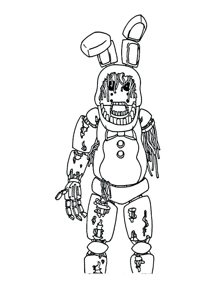 Fnaf Coloring Pages Withered Bonnie : coloring, pages, withered, bonnie, Various, Nights, Freddy's, Coloring, Pages, Sheets, Pages,, Books,