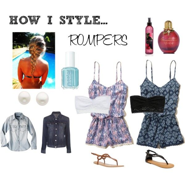 """""""How I Style Rompers"""" by luhill on Polyvore"""