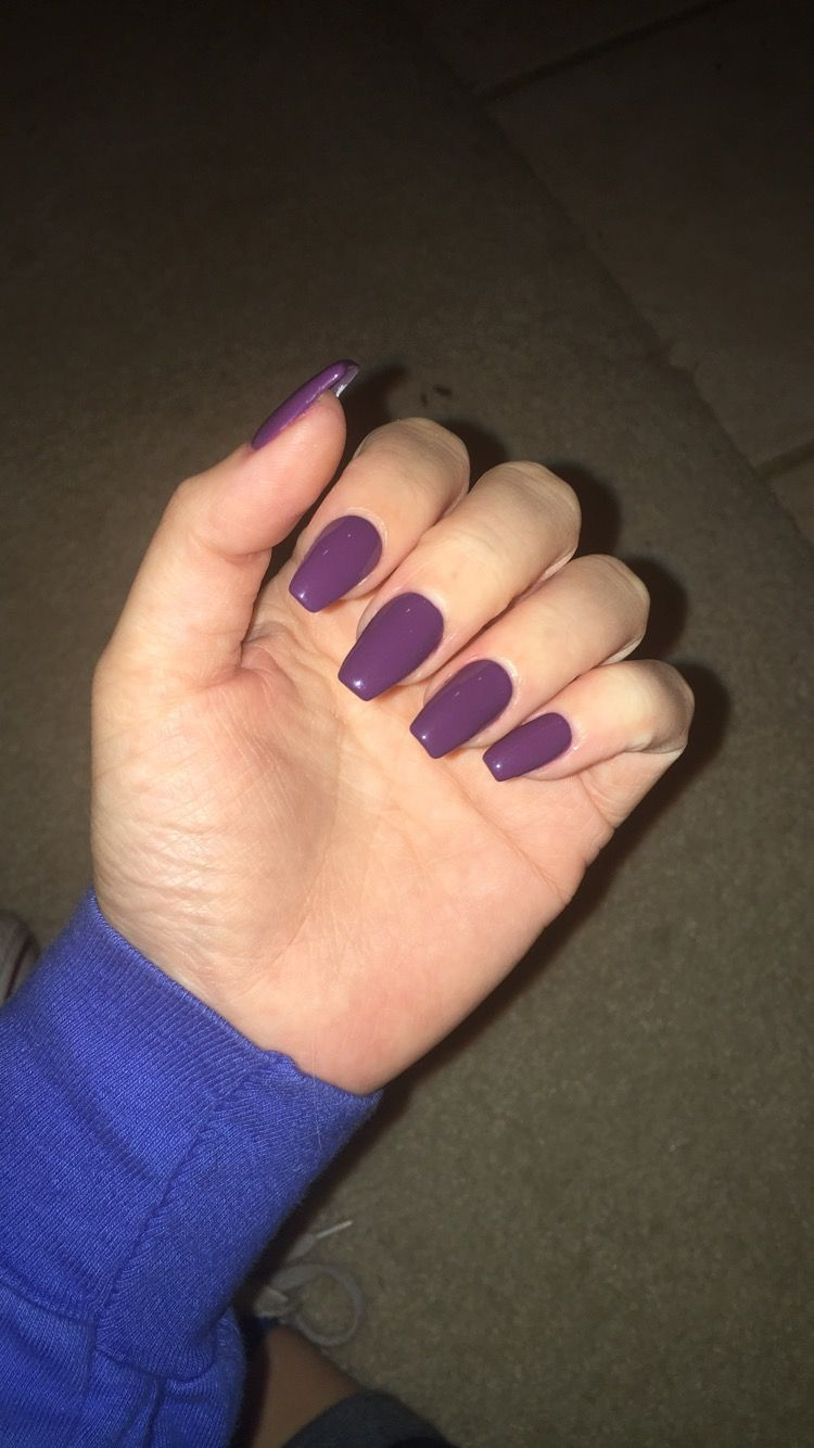 Purple Coffin Acrylic Nails Acrylic Nails Coffin Short Purple Acrylic Nails Mauve Nails