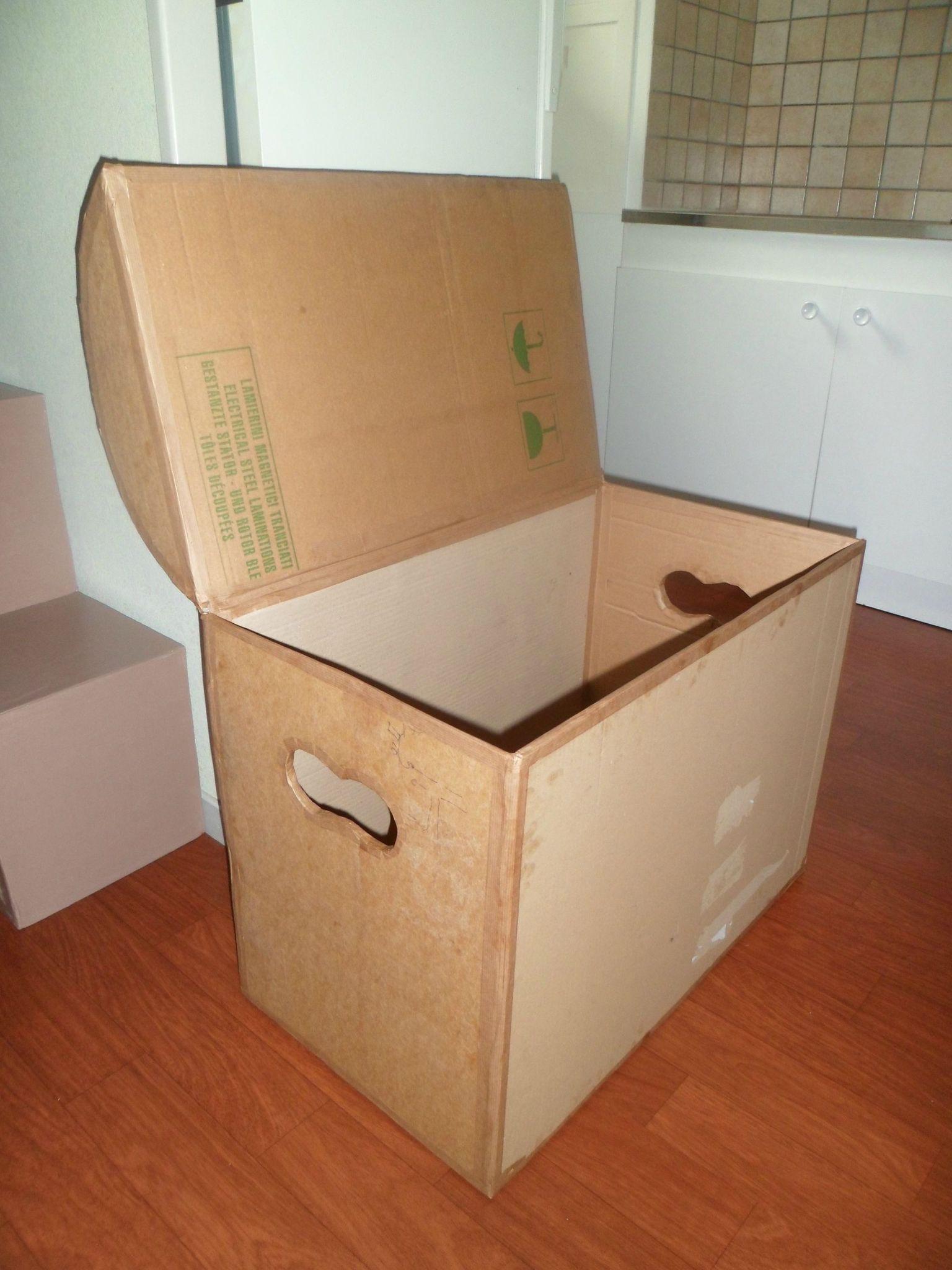 Coffre A Jouet En Carton Artesania De Carton Muebles De Carton Artesanias Con Caja De Carton