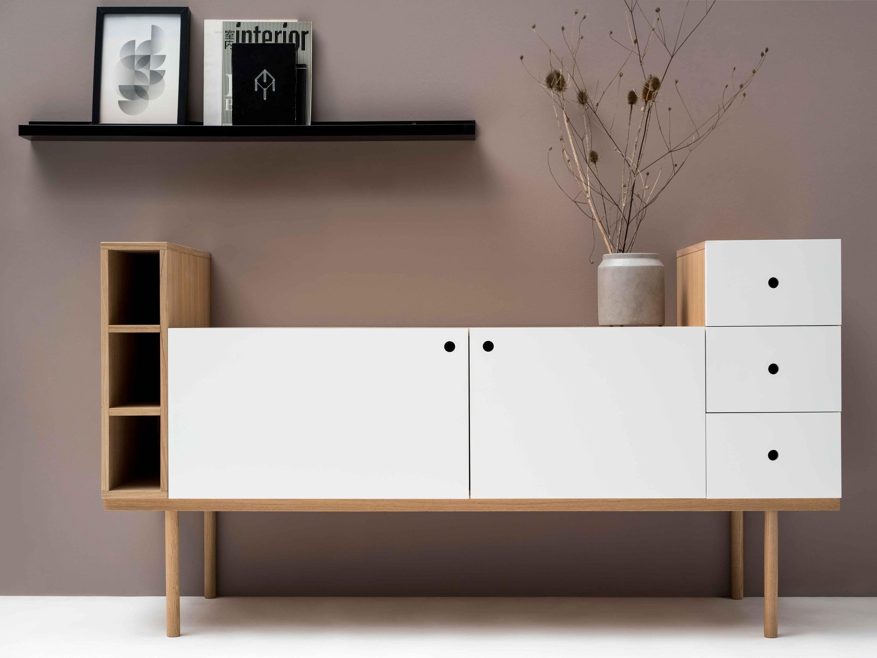 meuble sous vasque en chêne collage vanity unit by ex t design