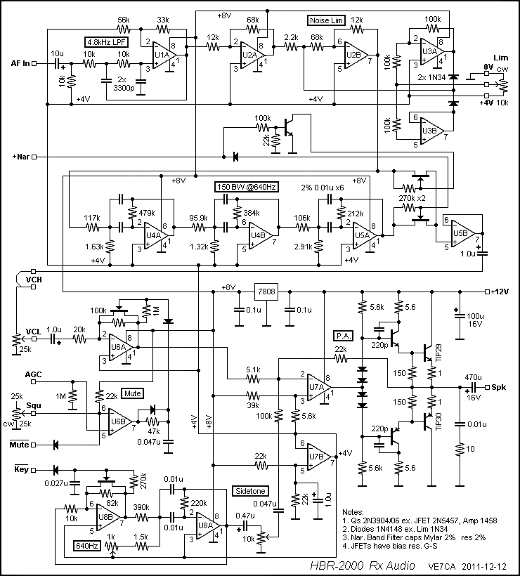 Hbr 2000 Audio Module Schematic Amateur Radio