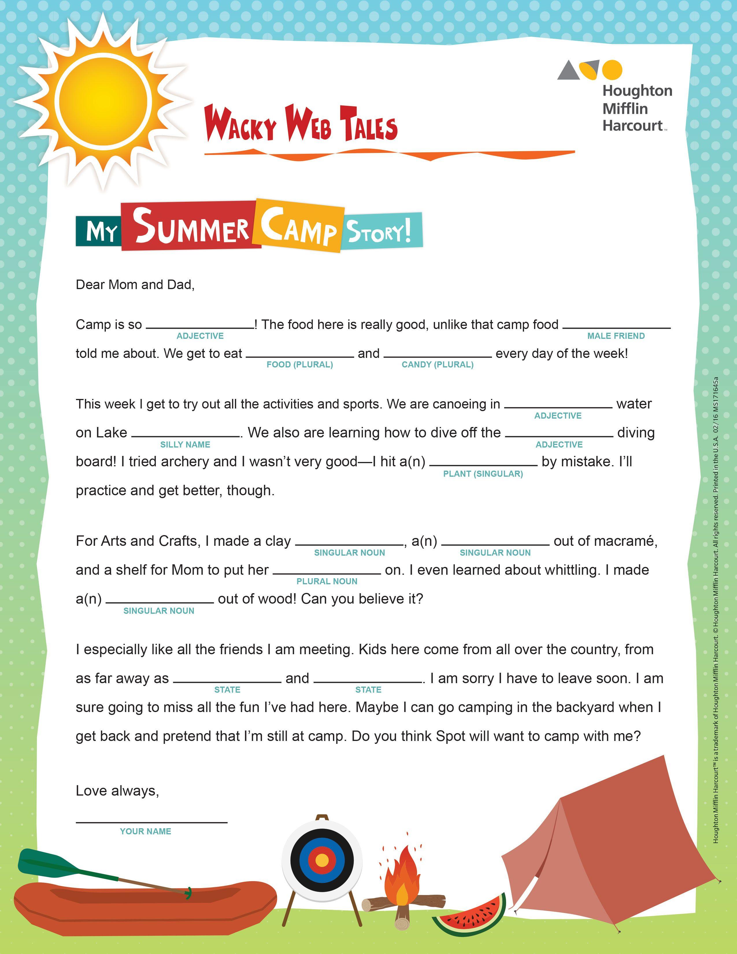 Print This Fun Summer Themed Worksheet To Reinforce Parts Of Speech For More Summer School Reso Summer School Curriculum Summer School Programs Summer School [ 3300 x 2550 Pixel ]