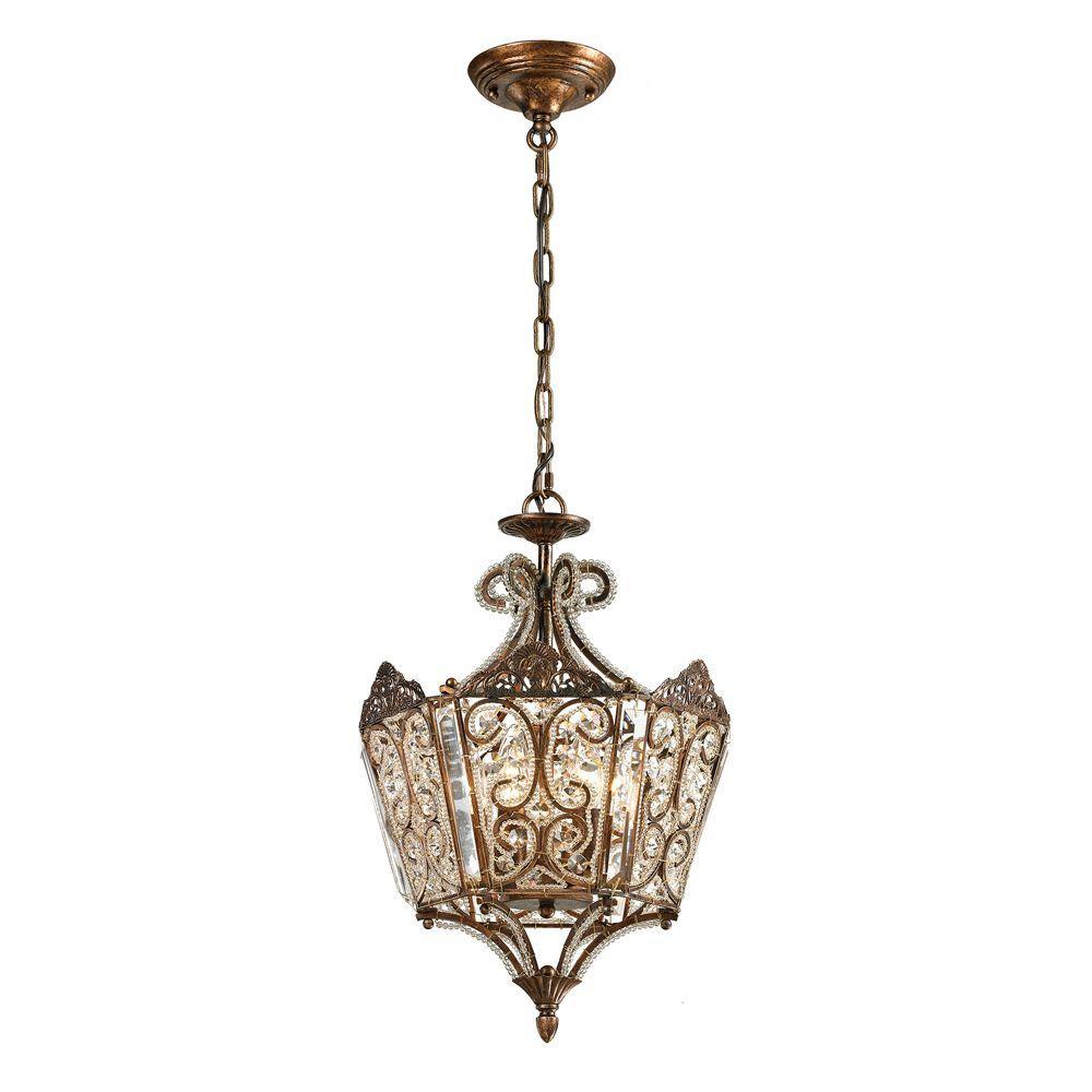 Titan Lighting Waltz Collection 6-Light Spanish Bronze Pendant