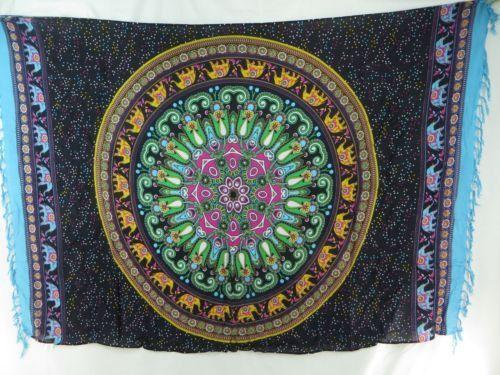 Elephant mandala Sarong wrap