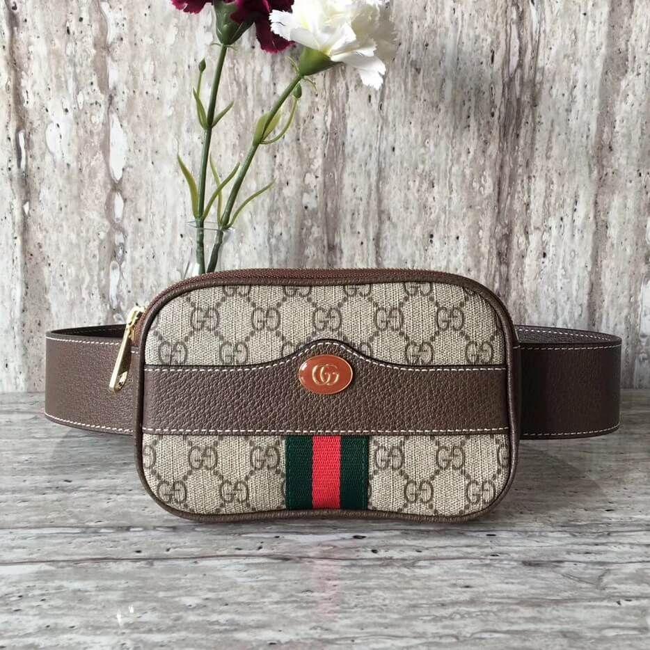 b2eac22de745 Gucci GG Supreme Belt Bag 100% Authentic 80% Off | Authentic Gucci Handbags