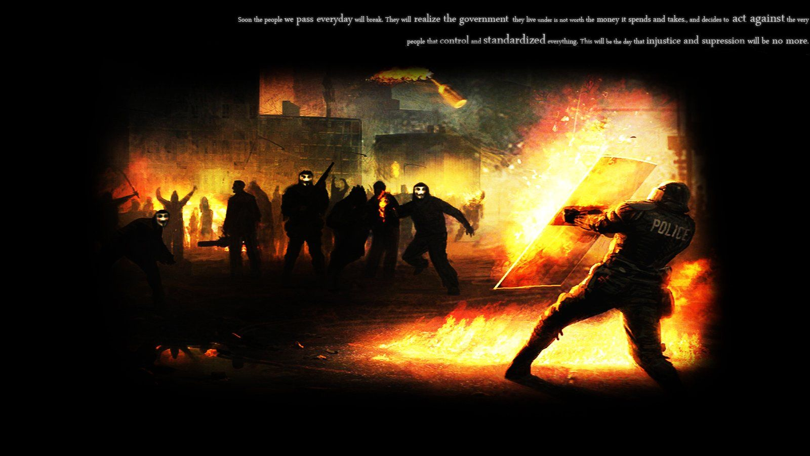 Photo Collection Riots Police Wallpaper