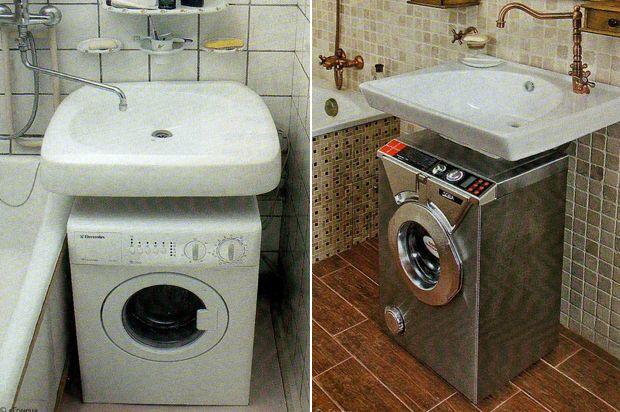 Маленькая ванная как поместить ванну умывальник