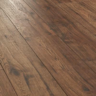 Home decorators collection distressed brown hickory 12 mm x 6 26 in x 50 78 in laminate flooring 15 45 sq ft case 34074sq at the home depot