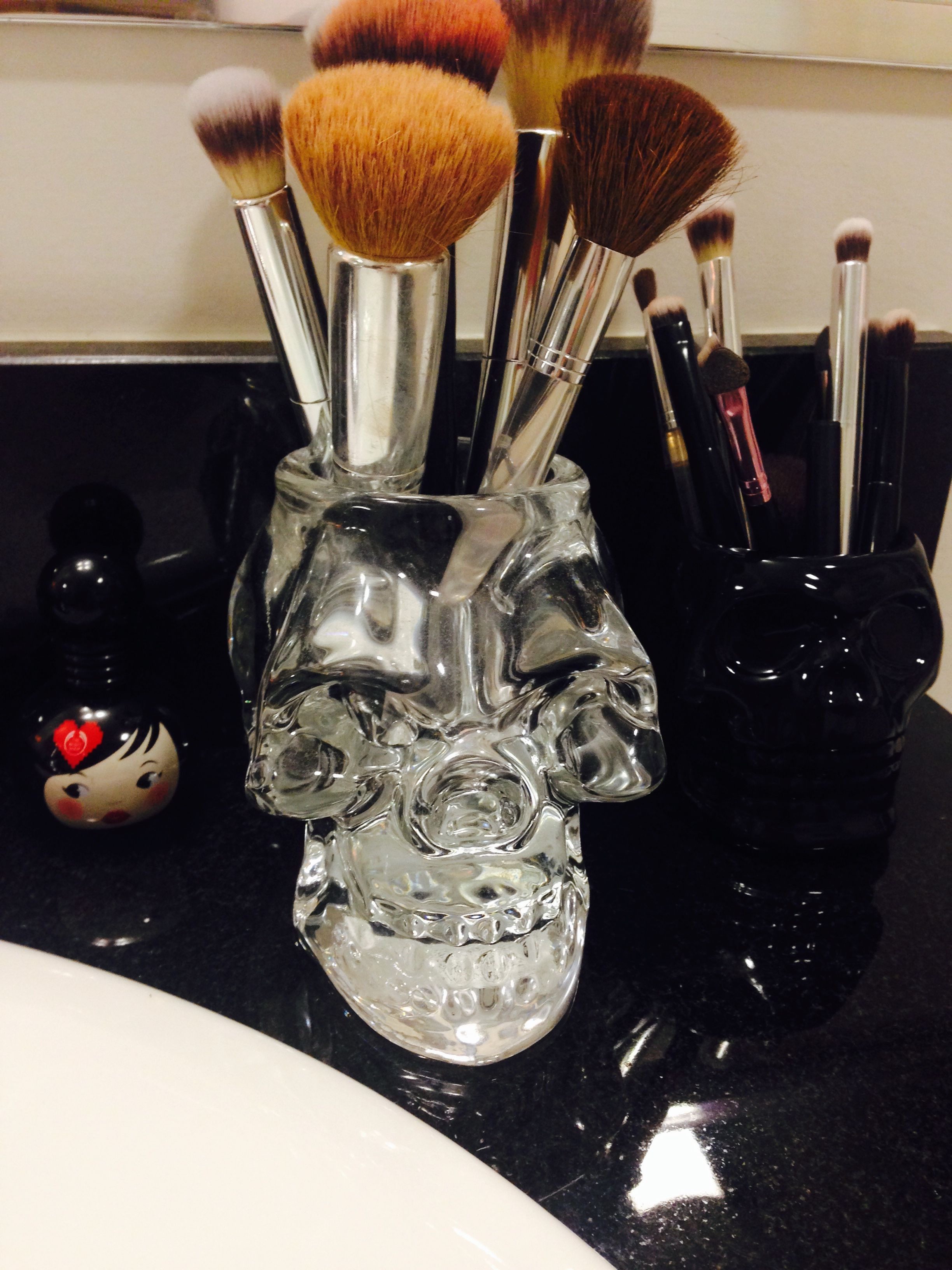I wanted some rockandroll makeup brush holders so I took