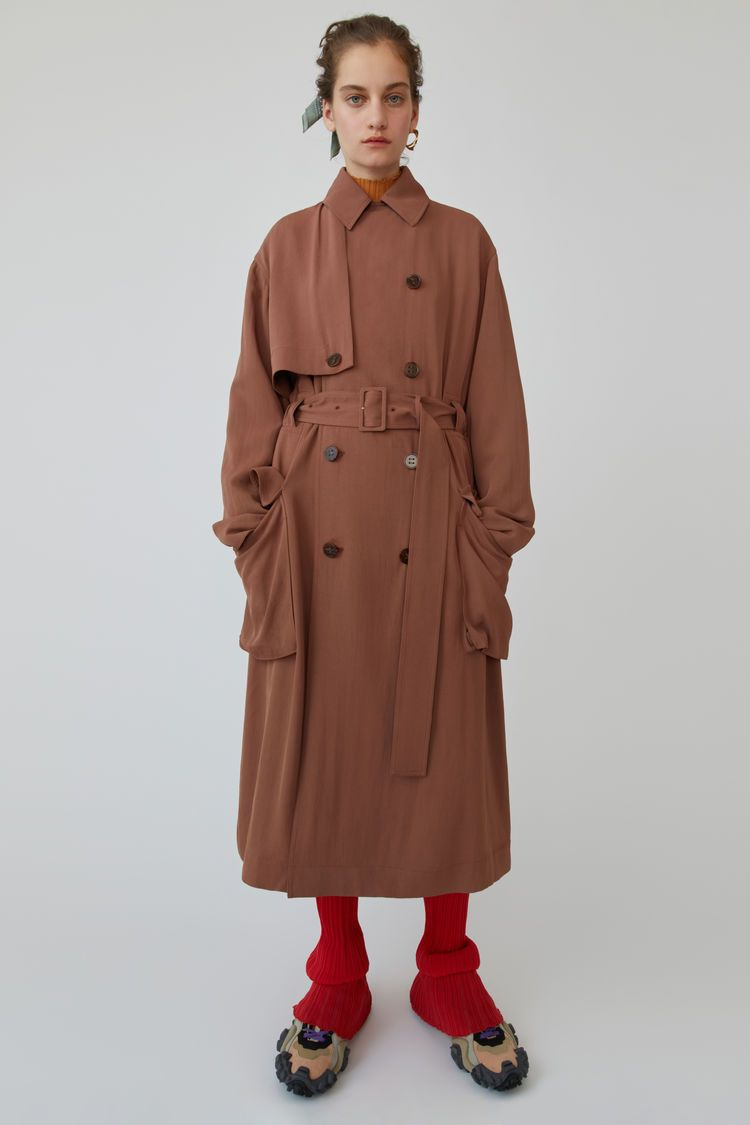 34758a7cd3fd Long trench coat Dusty pink in 2019