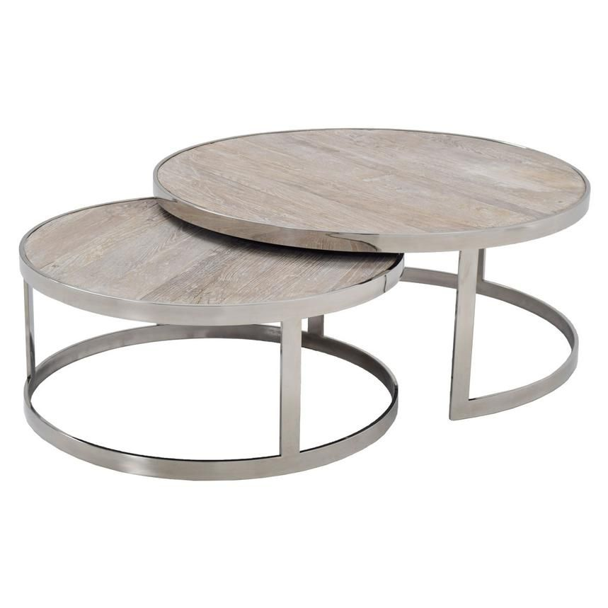 Briar Nesting Tables Set of 2 El Dorado Furniture Living Room
