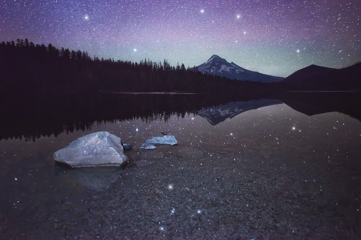 Spirit Dance, by Dave Morrow Lost Lake is a lake in Mount Hood National Forest 16.2 kilometres northwest of Mount Hood in Hood River County in the U.S. state of Oregon #Sky #Landscape #Photo #Beautiful #Image