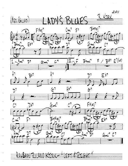 Practice Jazz Jazz Real Book Ii Page 201 Lady S Blues Roland Kirk Jazz Standard Sheet Music Sheet Music Jazz Standard Music Theory Guitar