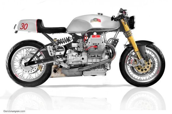 RocketGarage Cafe Racer: Guzzi V 11 Isle of Man