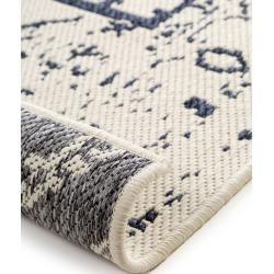 benuta Wendeteppich Terrazzo Grau/Blau 120×180 cm – Vintage Teppich im Used-Look benuta