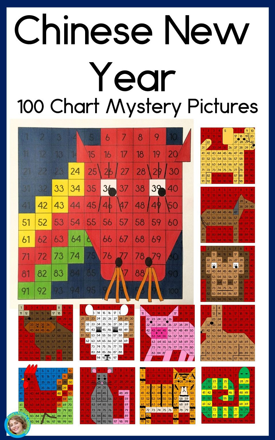 Chinese New Year 2020 Hundreds Chart Mystery Pictures ...
