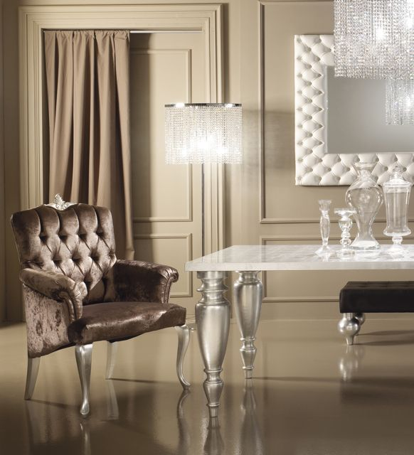 Diva Collection Dining Table Set. Shown Here With White