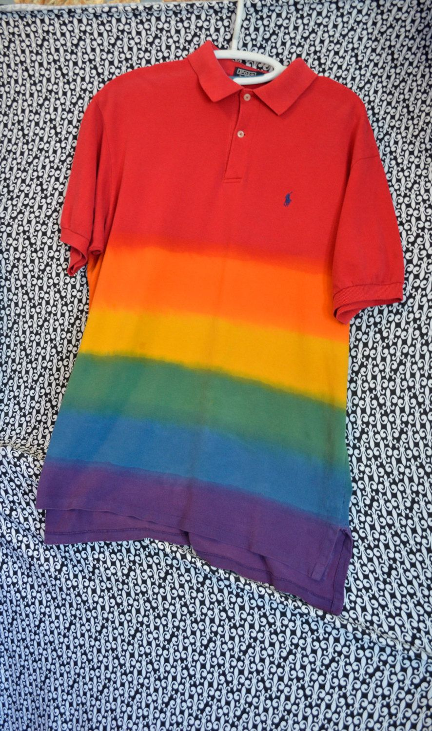 6fab5dce POLO Ralph Lauren Rainbow 90s Polo Rugby shirt XL old school hip hop Rave  festival by SerialMateriaL on Etsy